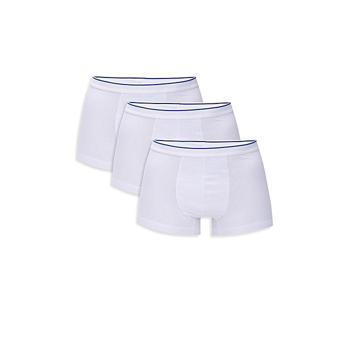 White Male Boxer Set