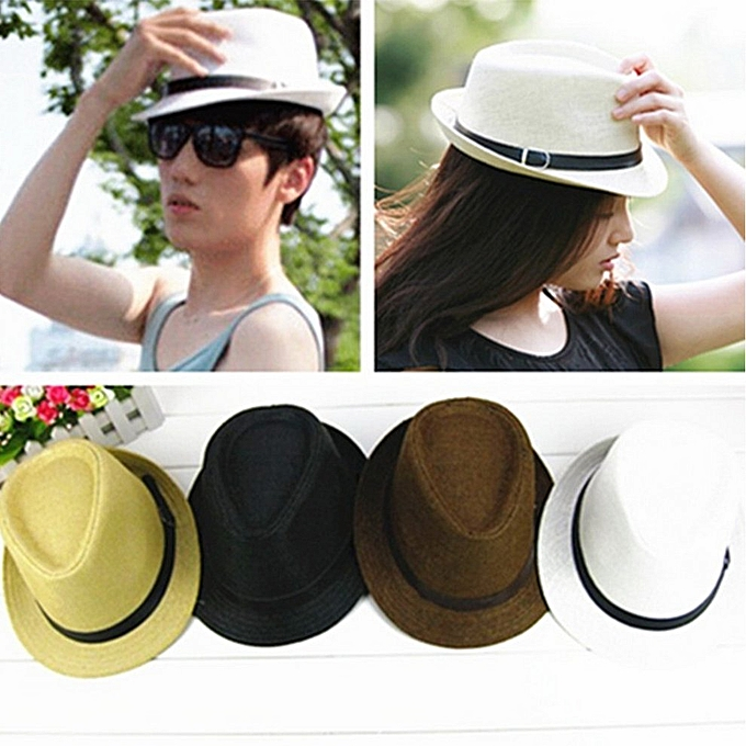 956de9025172d Fashion Stylish Hat Summer Straw Cap Topee Fedora Trilby Panama Jazz ...
