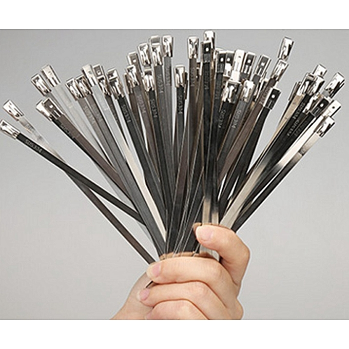 fe31abf33313 ... Strong Stainless Steel Marine Grade Metal Cable Ties Zip Tie Wraps  Exhaust