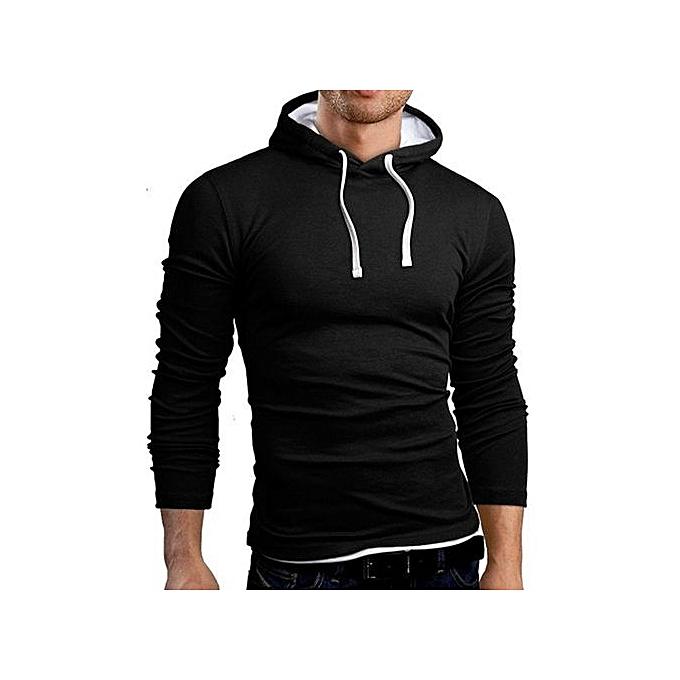 d69372ffe66 Autumn Men Sweatshirt 2017 Fashion Hooded Sportswear Solid Slim Fit Hoodies  Sweatshirts Plus Size Pullovers Tracksuit