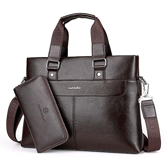 b88119a345 FEIDIKABOLO Fashion Men PU Leather Crossbady Bag Men Handbags Male Designer  Business Briefcase 14 inch Laptop