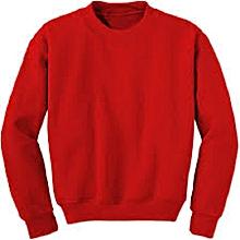 Red Plain Sweatshirt