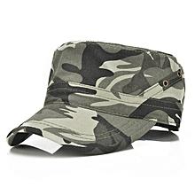 Mens Vintage Cotton Breathable Flat Baseball Hat Outdoor Visor Military Training Cap Adjustable