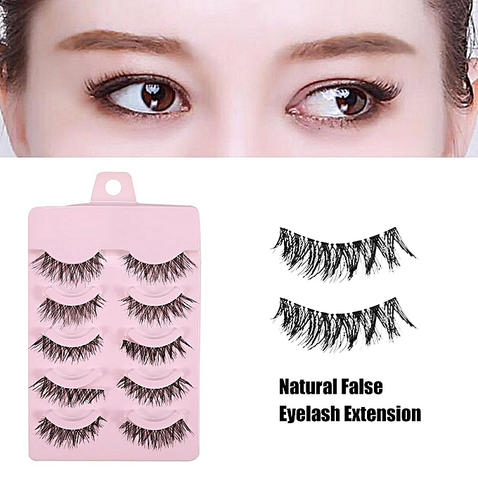 Universal Natural False Eyelashes Dense Thick Eye Lashes Extension