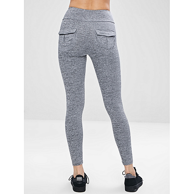 outlet for sale 2018 sneakers good selling Space Dye Pocket Gym Leggings,Gray