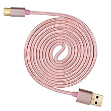 Type C USB Cable Fast Charge Cable Braided Nylon Cord Synchronization Quickly