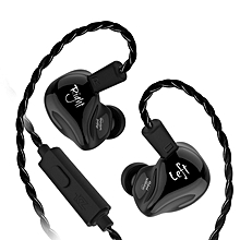 KZ ZS4 HiFi Stereo In-ear Noise Isolating Earphone Hybrid Unit Driver Monitor Music Earbuds-BLACK