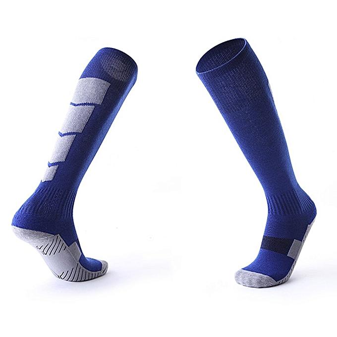 030c3e25696 1 Pair Anti-Slip Soccer Sports Socks Men Sock Football Knee Above Long Socks