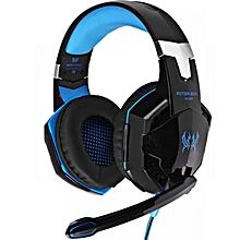 G2200 - Gaming Headphone Headset With Mic LED - Blue/Black