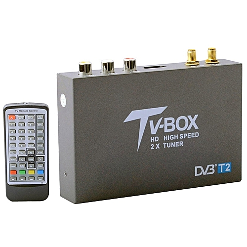 DVB-T2 HD High Speed Double Antenna Mobile Digital Car TV Receiver, Support  H 264/MPEG2/MPEG4 /120KM/hour