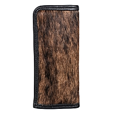 Brown Spectacle Case With Fur