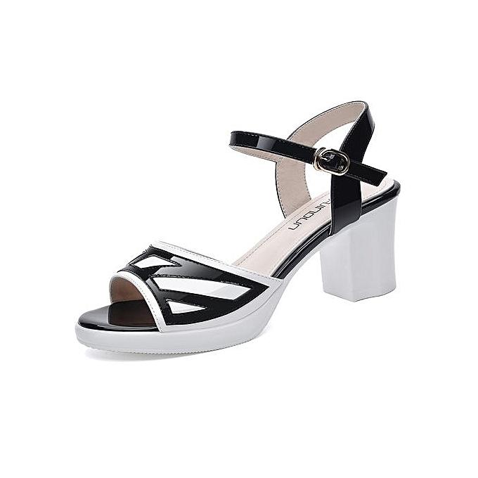 b1f6b04d2e6 Sweet Sandals Summer Style High Heels Shoes PU Leather High Heel Sandals  Women Pumps Sexy Open ...