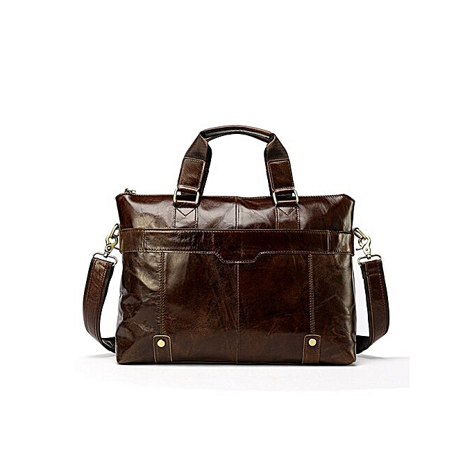 5f213b826ee OYIXINGER 2019 Business Men Briefcase Handbag Leather Laptop Bag 15 Inch  Leather Men's Shoulder Bags For Files Work Tote(Coffee)