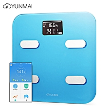 M1302 App Control Bluetooth Smart Body Fat Electronic Scale-Blue