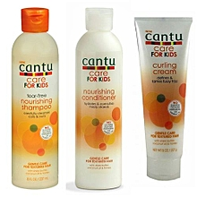 Cantu Baby Hair Care for Kids Nourishing shampoo, Nourishing Conditioner, Curling Cream (Combo Kit) - 701g