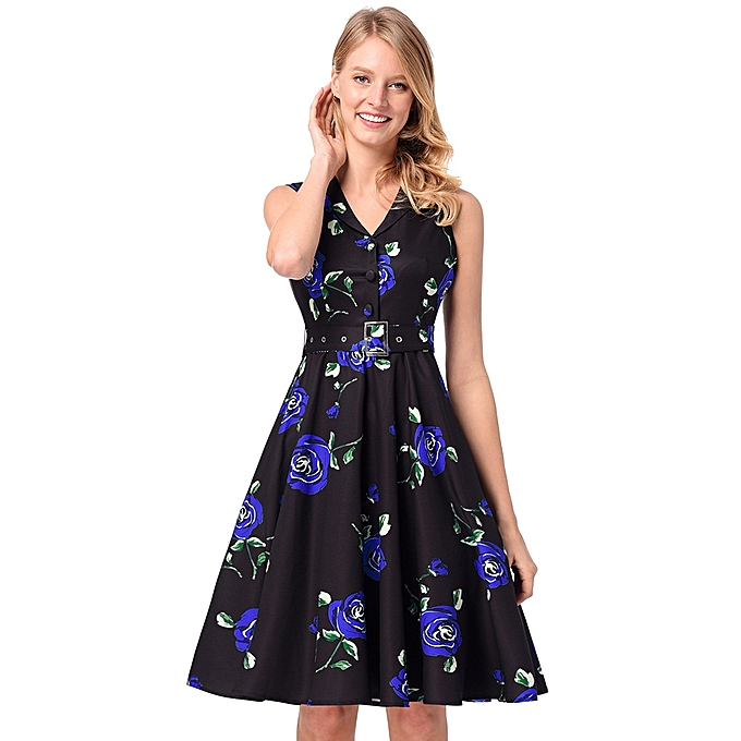 d19ec5357b Generic Spring And Summer Casual Dresses Women s Retro Hepburn ...
