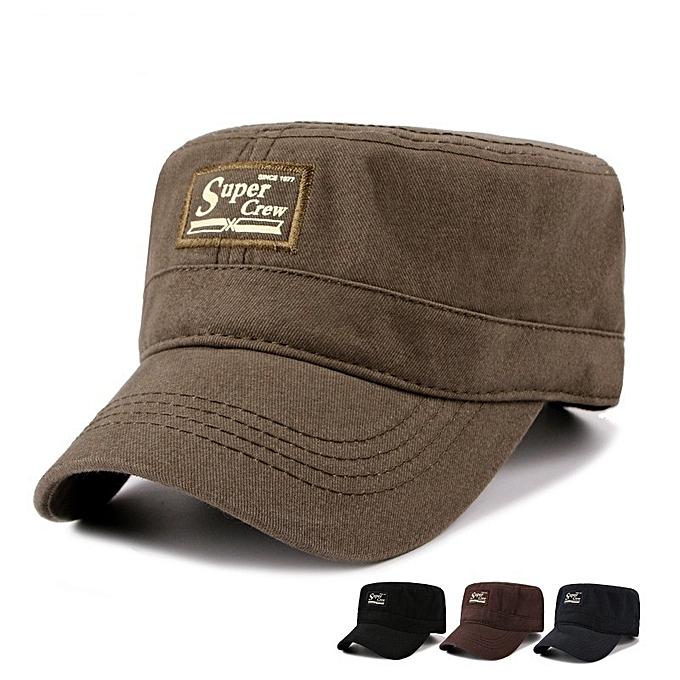 41eb92106d3 Mens cotton flat hats vintage baseball cap outdoor casual adjustable washed  retro hat jpg 680x680 Flat