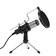 Professional Condenser Microphone USB Plug and Play Home Studio Podcast Vocal Recording Microphones with Mini MIC Stand Dual-layer Acousticfilter for Windows for Mac