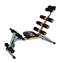 Multifunction Abdominal Six Pack Care Bench - Black.