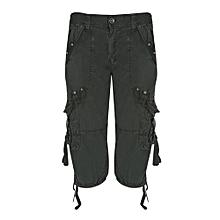9a1ea1994e7 Outdoor Zipper Fly Multi-pocket Men Loose Beach Shorts