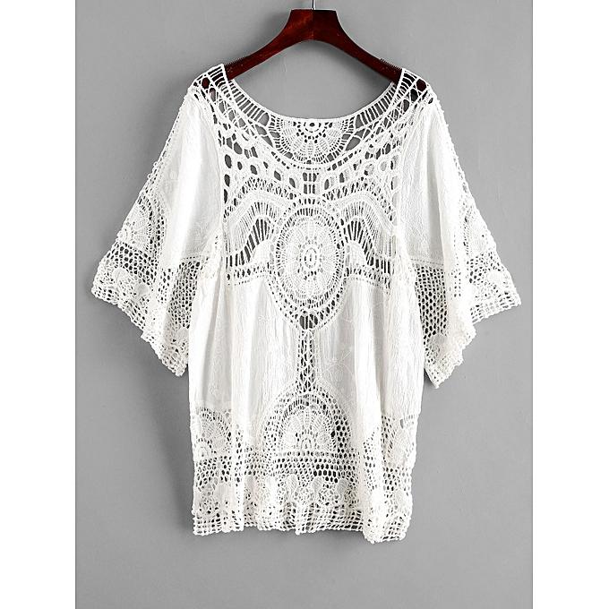 224e3967de15c ZAFUL Crochet Cover-up Top,White @ Best Price | Jumia Kenya
