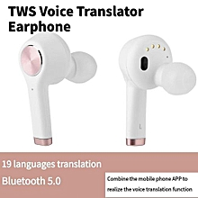 Voice Translator Earphone19 Languages Real Time Voice Translation  Wireless Bluetooth Earphone With Dual Mic Noise Reduction