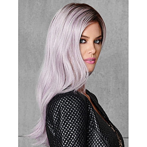Generic Long Curly Hair Light Purple Wig for Women Cosplay Costume Wig    Best Price  9c99dd50f