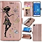 Premium Embossed Butterfly Girl PU Leather Wallet Folio Flip Cases with Detachable Wrist Strap Card Slots Kickstand Function Cover Case for Sony Xperia Z3   XXZ-Z