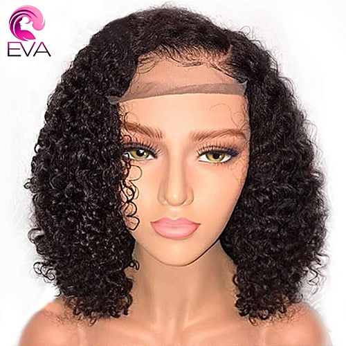 Generic Eva Short Curly Lace Front Human Hair Wigs Pre Plucked With Baby  Hair Brazilian Remy Hair Lace Front Bob Wigs For Black Women b49a2b60cb