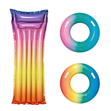 Xiaomi Bestway Rainbow Colorful Inflatable Floating Swimming Ring Beach Water Pool Party Toys