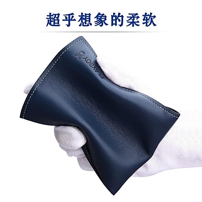 3393b2083f3014 ... 【blue】Playboy wallet men's youth ultra-thin fashion leather ticket  holder boys wallet ...