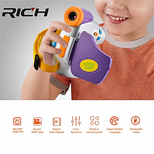 18640501a92f1 DHL RICH 1080P MINI kids digital video camera with 1.44'' TFT display and  4x digital zoom digital camcorder free shipping HITIME