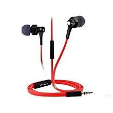 Es400i Noise Cancelling Super  Bass earphones with Mic - Red