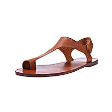 Generic Women Summer Casual Ankle Strap Roman Flat Clip Toe Shoes Flat Sandals  A1