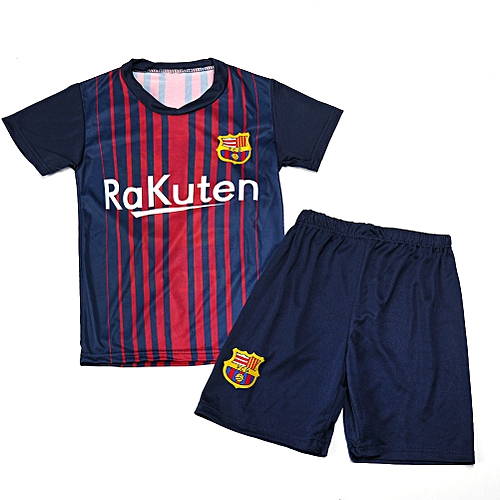 the best attitude 3c1c2 f73e4 Boy Barcelona Home Soccer Jerseys Kids Sports Football Uniforms