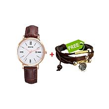 Brown Flawless Women's Watch +FREE Bracelet