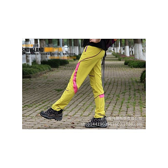 10f701689 New Arrival: Couple Hiking Pants Unisex Outdoor Camping Breathable Climbing  Trekking Pants Women Men Waterproof Trousers-yellow