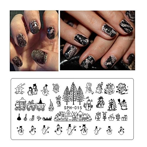 Buy Zlime 612cm Nail Art Stamping Plates Geometric Sports Nails