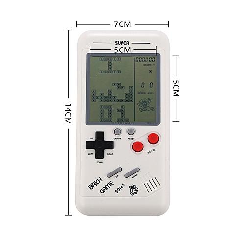 Retro Classic Childhood Tetris Handheld Game Console (White)
