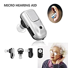 Micro Plus Sound Amplifier Hearing Aid Adjustable Tone Battery Mini In Ear Aids