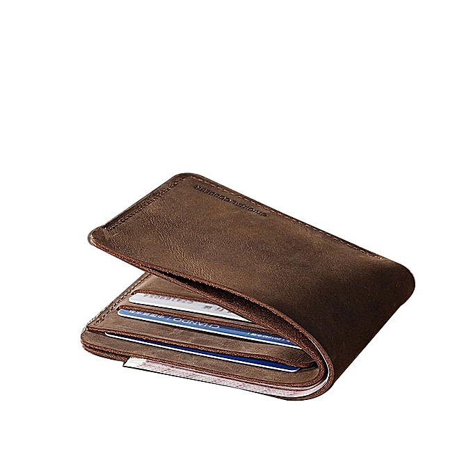 bbe3e605a14393 Cow Leather Style Hand Made Vintage Personalized Name Men's Short Small  Wallet Men's Leather Wallet -
