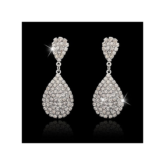 Nice Earrings For Women Luxury Drop Crystal Very Shiny Fashion Accessories One Pair