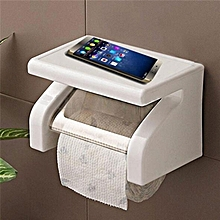 Wall Mounted Plastic Waterproof Toilet Paper Box Rack Tissue Roll Holder