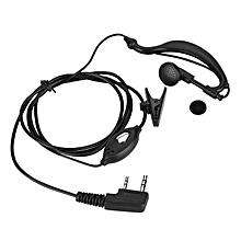 2Pin Earpiece PTT Walkie Talkie Headset Ear-hook for Two-way Radio