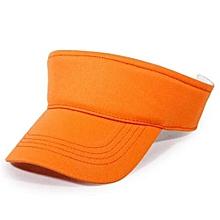 2016 Cotton Empty Top Hat Children Kids Solid Sun Hat Visor Hat Free Customized Wholesale And Retail Group Advertising Cap(Orange)