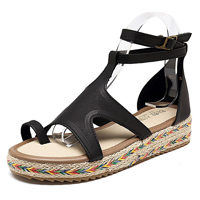 5648e6b50 Fashion Roman Gladiator Sandals Summer Wedges Platform Women Shoes ...