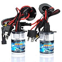 2X 35W Car H4-2 Low-Xenon High-Halogen HID Xenon Bulbs Light 5000k