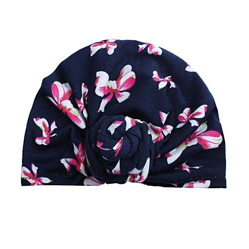 Eissely Cute Newborn Toddler Kids Baby Boy Girl Turban Cotton Beanie Hat  Winter Warm Cap a70d7ab99b6