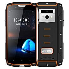 VK7000 Triple Proofing Phone 4GB+64GB IP68 Waterproof Dustproof Shockproof 5600mAh Battery 5.2 inch Android 8.0 MTK6750T Octa Core up to 1.5GHz 4G Smartphone(Orange)