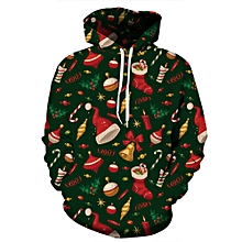 Unisex 3D Hoodies Sweatshirt Digital Christmas Gift Print Pullover Casual Hooded Tracksuit